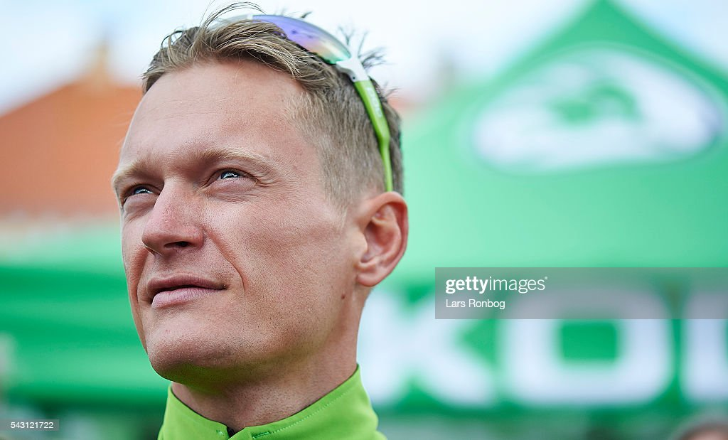 <a gi-track='captionPersonalityLinkClicked' href=/galleries/search?phrase=Matti+Breschel&family=editorial&specificpeople=595999 ng-click='$event.stopPropagation()'>Matti Breschel</a> of Cannondale looks on prior to the Elite Men Road Race Championships on day three of the Danish Cycling Championships on June 26, 2016 in Vordingborg, Denmark.