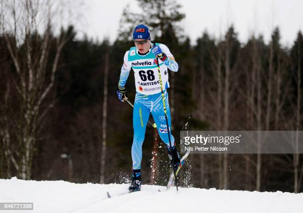 Matti Heikkinen of Finland during the men's cross country distance during the FIS Nordic World Ski Championships on March 1 2017 in Lahti Finland