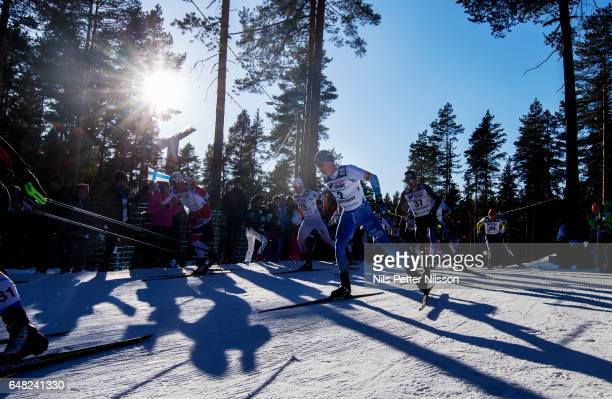 Matti Heikkinen of Finland during the men´s mass start race during the FIS Nordic World Ski Championships on March 5 2017 in Lahti Finland