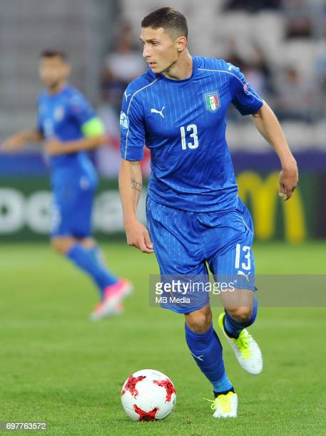 Mattia Caldara during the UEFA European Under21 match between Denmark and Italy at Cracovia stadium on June 18 2017 in Krakow Poland