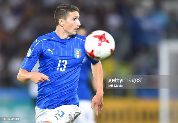 Mattia Caldara during the UEFA European Under21 match between Italy and Germany on June 24 2017 in Krakow Poland