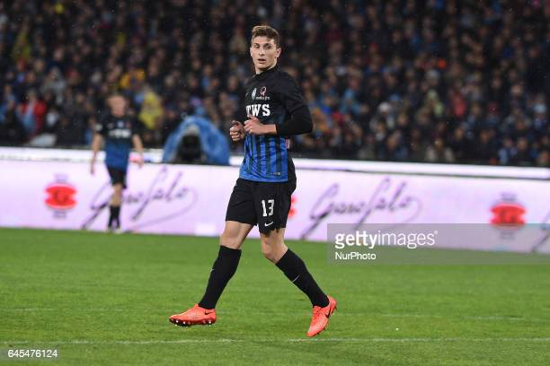 Mattia Caldara of Atalanta BC during the Serie A TIM match between SSC Napoli and Atalanta BC at Stadio San Paolo Naples Italy on 25 February 2017