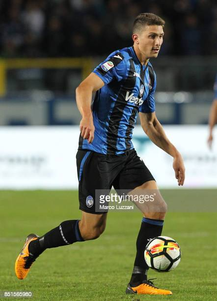 Mattia Caldara of Atalanta BC in action during the Serie A match between Atalanta BC and FC Crotone at Stadio Atleti Azzurri d'Italia on September 20...