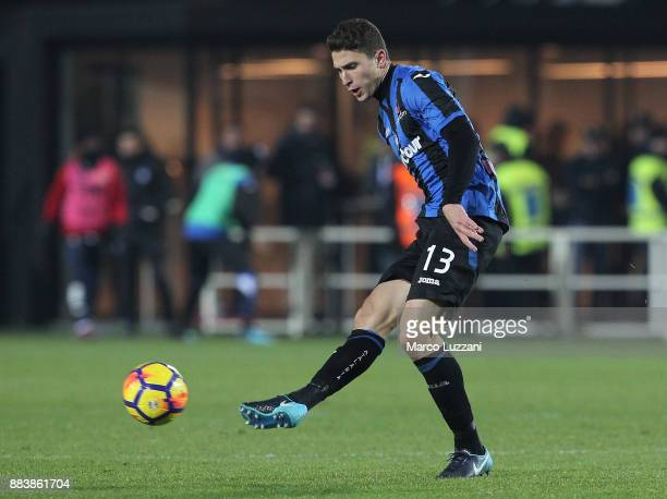Mattia Caldara of Atalanta BC in action during the Serie A match between Atalanta BC and Benevento Calcio at Stadio Atleti Azzurri d'Italia on...