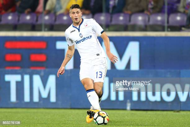 Mattia Caldara of Atalanta BC in action during the Serie A match between FC Crotone and Benevento Calcio at Stadio Artemio Franchi on September 24...