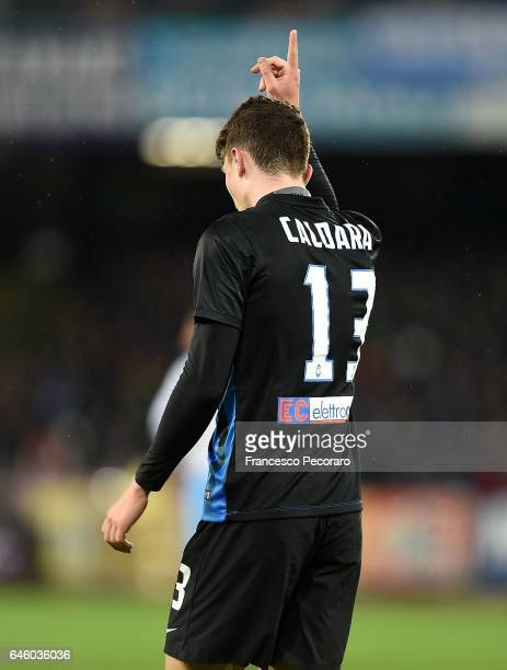 Mattia Caldara of Atalanta BC in action during the Serie A match between SSC Napoli and Atalanta BC at Stadio San Paolo on February 25 2017 in Naples...
