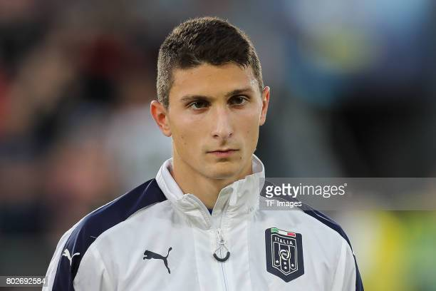 Mattia Caldara of Italy looks on during the UEFA U21 championship match between Italy and Germany at Krakow Stadium on June 24 2017 in Krakow Poland
