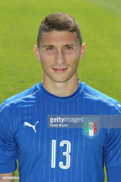 Mattia Caldara of Italy U21 poses during the official team photo at Centro Sportivo Fulvio Bernardini on June 14 2017 in Rome Italy