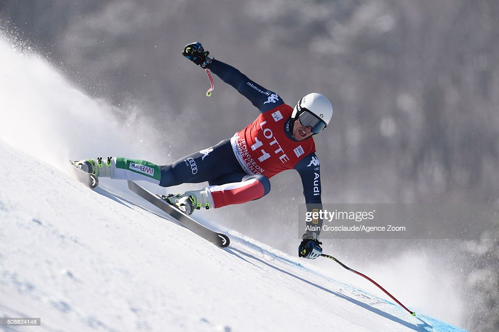 Mattia Casse of Italy competes during the Audi FIS Alpine Ski World Cup Men's Super G on January 07, 2016 in Jeongseon, South Korea.