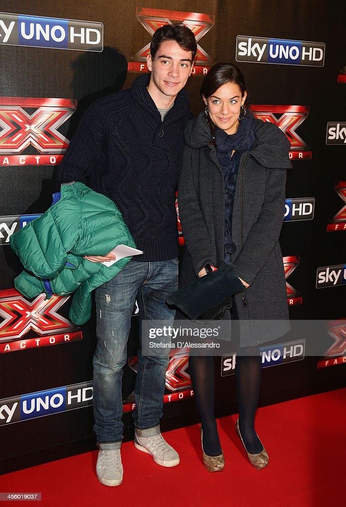 <a gi-track='captionPersonalityLinkClicked' href=/galleries/search?phrase=Mattia+De+Sciglio&family=editorial&specificpeople=8709670 ng-click='$event.stopPropagation()'>Mattia De Sciglio</a> (L) and his girlfriend attend 'X Factor 2013 - The Final' Red Carpet on December 12, 2013 in Milan, Italy.