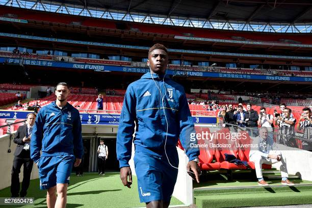 Mattia De Sciglio and Moise Bioty Kean before the Tottenham Hotspur v Juventus PreSeason Friendly match at Wembley Stadium on August 5 2017 in London...