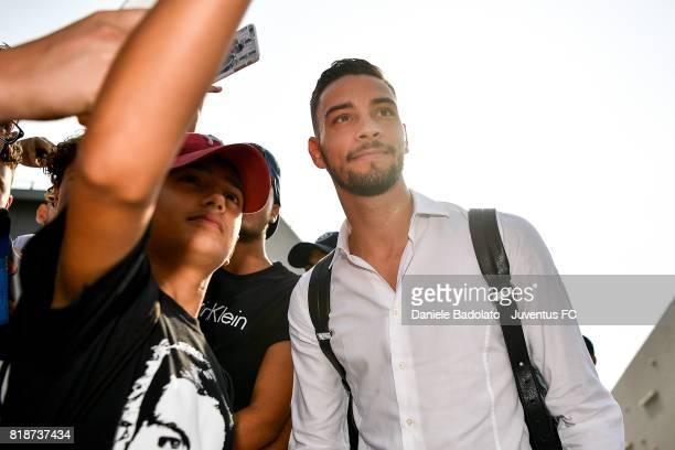 Mattia De Sciglio attends medical tests on July 19 2017 in Turin Italy