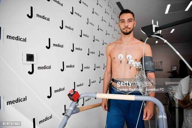 Mattia De Sciglio attends medical tests on July 19 2017 in Turin Italy