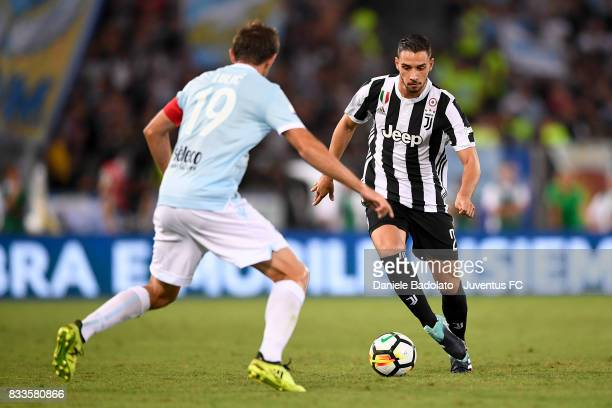 Mattia De Sciglio during the Italian Supercup match between Juventus and SS Lazio at Stadio Olimpico on August 13 2017 in Rome Italy