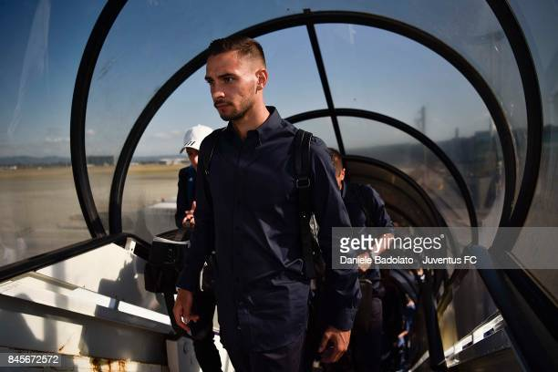 Mattia De Sciglio during the Juventus trip to Barcelona ahead of the UEFA Champions League match against Barcelona at on September 11 2017 in Turin...