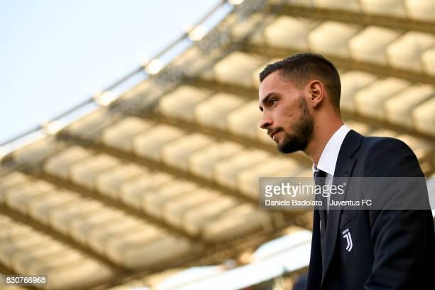 Mattia De Sciglio during the Juventus Walk Around ahead of the Italian Supercup at Olimpico Stadium on August 12 2017 in Rome Italy
