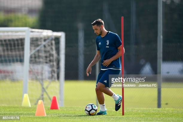 Mattia De Sciglio during the morning training session at Juventus Center Vinovo on August 16 2017 in Vinovo Italy