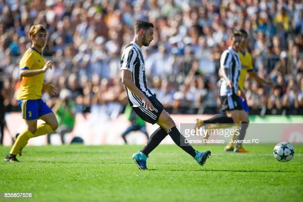 Mattia De Sciglio during the preseason friendly match between Juventus A and Juventus B on August 17 2017 in Villar Perosa Italy