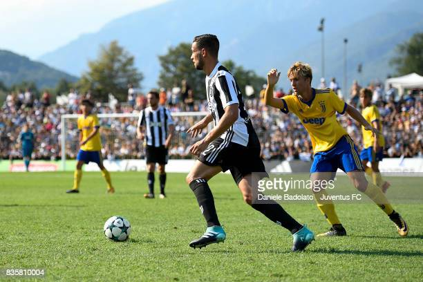 Mattia De Sciglio during the preseason friendly match between Juventus A and Juventus B on August 17 2017 in Villar Perosa Italy