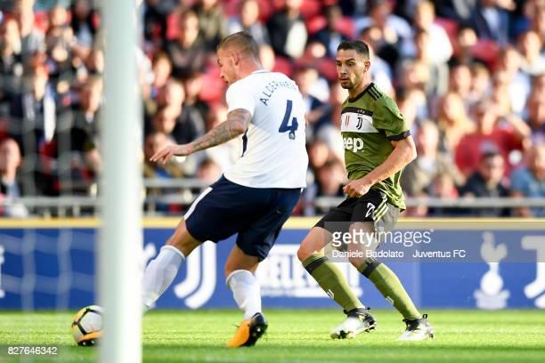 Mattia De Sciglio during the Tottenham Hotspur v Juventus PreSeason Friendly match at Wembley Stadium on August 5 2017 in London England