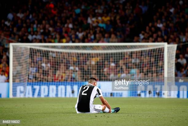 Mattia De Sciglio is injured during Champions League match between FC Barcelona v RCD Juventus in Barcelona on September 12 2017
