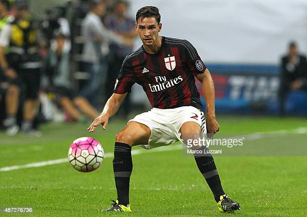 Mattia De Sciglio of AC Milan in action during the Serie A match between AC Milan and Empoli FC at Stadio Giuseppe Meazza on August 29 2015 in Milan...