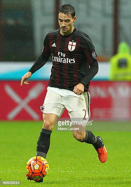 Mattia De Sciglio of AC Milan in action during the Serie A match between AC Milan and AC Chievo Verona at Stadio Giuseppe Meazza on October 28 2015...