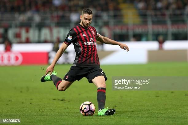 Mattia De Sciglio of Ac Milan in action during the Serie A match between Ac Milan and As Roma As Roma wins 41 over Ac Milan