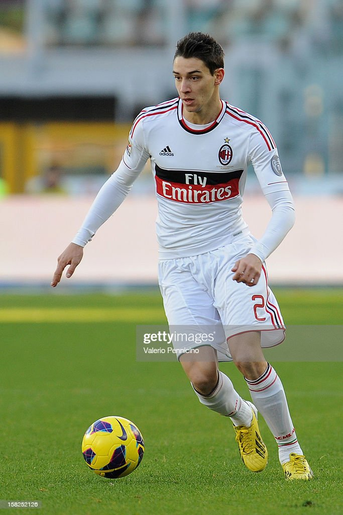 Mattia De Sciglio of AC Milan in action during the Serie A match between Torino FC and AC Milan at Stadio Olimpico di Torino on December 9, 2012 in Turin, Italy.