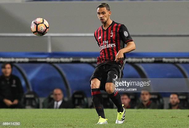 Mattia De Sciglio of AC Milan in action during the TIM Preseason Tournament at Mapei Stadium Citta' del Tricolore on August 10 2016 in Reggio...