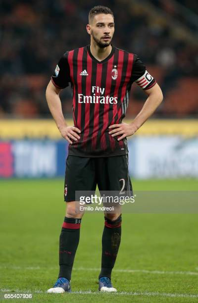 Mattia De Sciglio of AC Milan looks on during the Serie A match between AC Milan and Genoa CFC at Stadio Giuseppe Meazza on March 18 2017 in Milan...