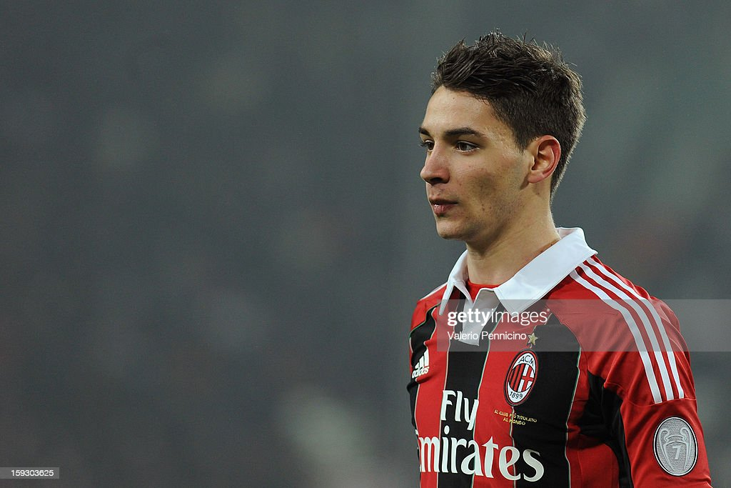 Mattia De Sciglio of AC Milan looks on during the TIM cup match between Juventus FC and AC Milan at Juventus Arena on January 9, 2013 in Turin, Italy.