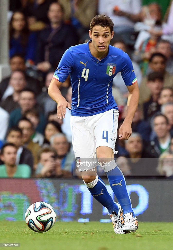Mattia De Sciglio of Italy in action during the International Friendly match between Italy and Ireland at Craven Cottage on May 30, 2014 in London, England.