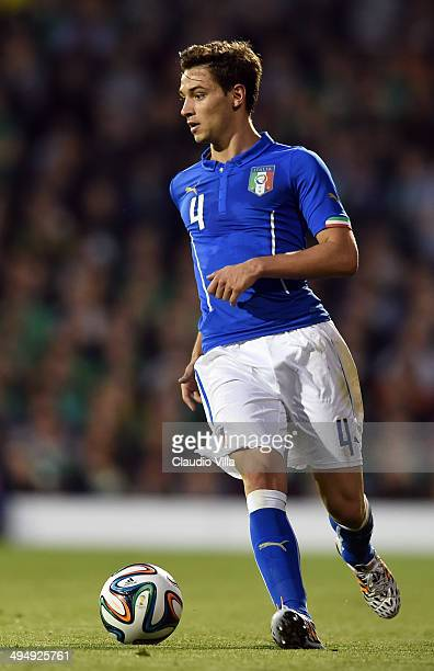 Mattia De Sciglio of Italy in action during the International Friendly match between Italy and Ireland at Craven Cottage on May 30 2014 in London...