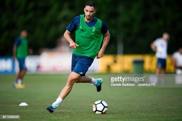 Mattia De Sciglio of Juventus during a training session on August 7 2017 in Vinovo Italy