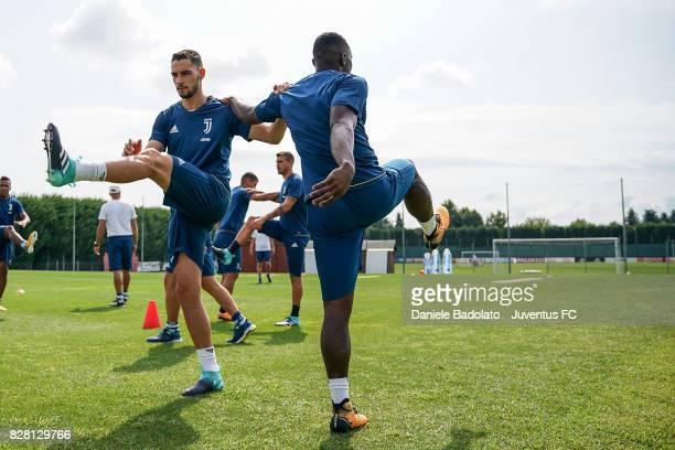 Mattia De Sciglio of Juventus during a training session on August 9 2017 in Vinovo Italy