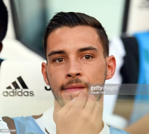 Mattia De Sciglio of Juventus FC looks on during the Serie A match between Juventus and Cagliari Calcio at Allianz Stadium on August 19 2017 in Turin...