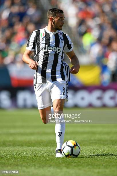 Mattia De Sciglio of Juventus in action during the International Champions Cup 2017 match between AS Roma and Juventus at Gillette Stadium on July 30...