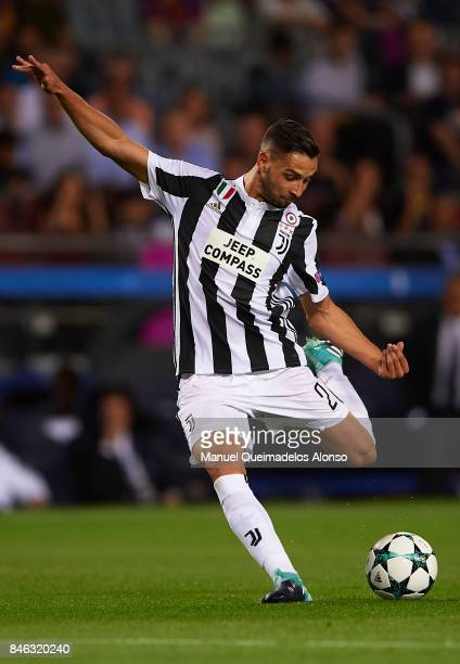 Mattia De Sciglio of Juventus in action during the UEFA Champions League group D match between FC Barcelona and Juventus at Camp Nou on September 12...