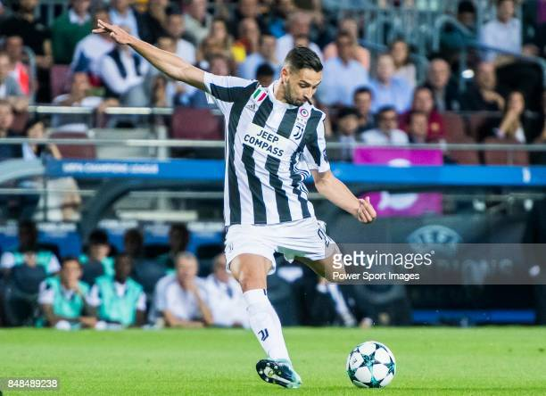 Mattia De Sciglio of Juventus in action during the UEFA Champions League 201718 match between FC Barcelona and Juventus at Camp Nou on 12 September...