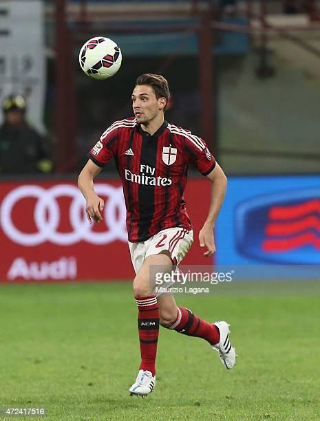 Mattia De Sciglio of Milan during the Serie A match between AC Milan and Genoa CFC at Stadio Giuseppe Meazza on April 29 2015 in Milan Italy