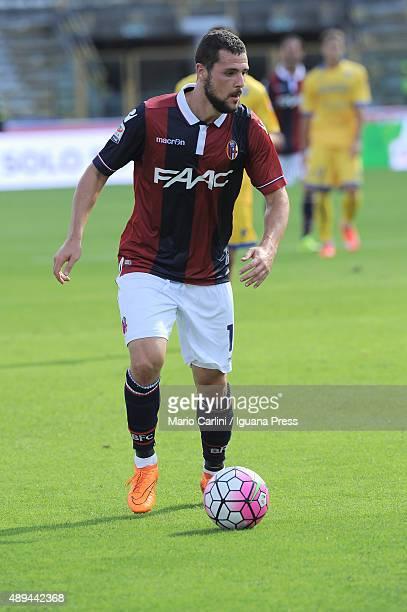 Mattia Destro of Bologna FC in action during the Serie A match between Bologna FC and Frosinone Calcio at Stadio Renato Dall'Ara on September 20 2015...