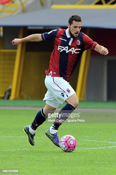 Mattia Destro of Bologna FC in action during the Serie A match between Bologna FC and Udinese Calcio at Stadio Renato Dall'Ara on September 27 2015...