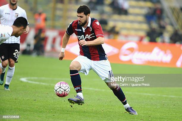 Mattia Destro of Bologna FC in action during the Serie A match between Bologna FC and US Citta di Palermo at Stadio Renato Dall'Ara on October 18...