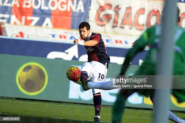 Mattia Destro of Bologna FC in action during the Serie A match between Bologna FC and Atalanta BC at Stadio Renato Dall'Ara on November 1 2015 in...