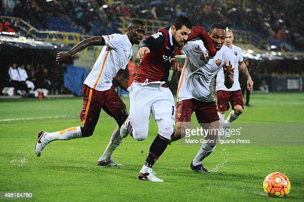 Mattia Destro of Bologna FC in action during the Serie A match between Bologna FC and AS Roma at Stadio Renato Dall'Ara on November 21 2015 in...