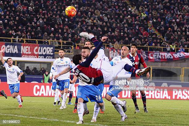 Mattia Destro of Bologna FC in action during the Serie A match between Bologna FC and Empoli FC at Stadio Renato Dall'Ara on December 19 2015 in...