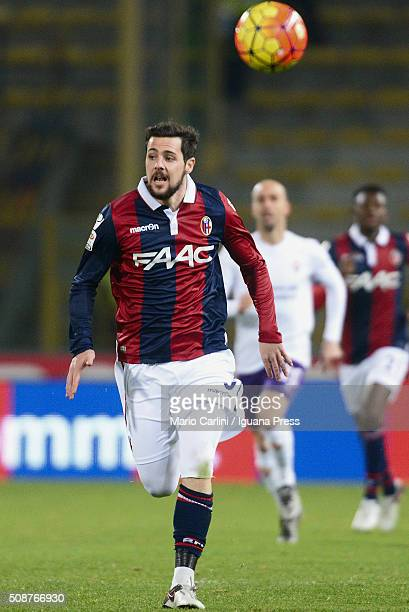 Mattia Destro of Bologna FC in action during the Serie A match between Bologna FC and ACF Fiorentina at Stadio Renato Dall'Ara on February 6 2016 in...