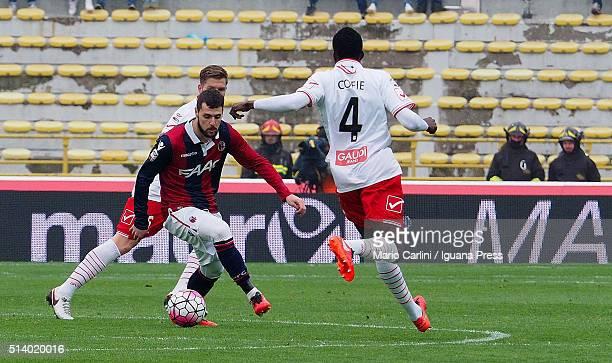 Mattia Destro of Bologna FC in action during the Serie A match between Bologna FC and Carpi FC at Stadio Renato Dall'Ara on March 6 2016 in Bologna...