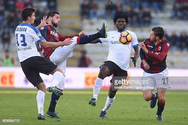Mattia Destro of Bologna FC in action during the Serie A match between Bologna FC and Atalanta BC at Stadio Renato Dall'Ara on November 27 2016 in...